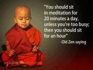 meditate for 20 minutes